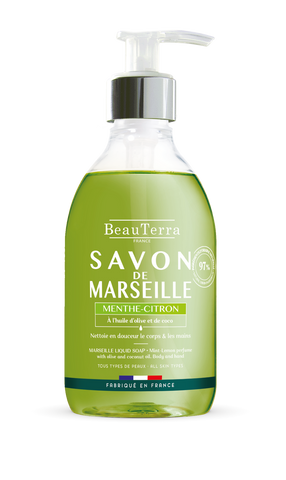 BeauTerra Marseille Liquid Soap Menthe Citron 300ml