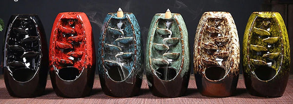 Chinese incense burners are regularly made to look like a metal or stone dish and remain on little legs.