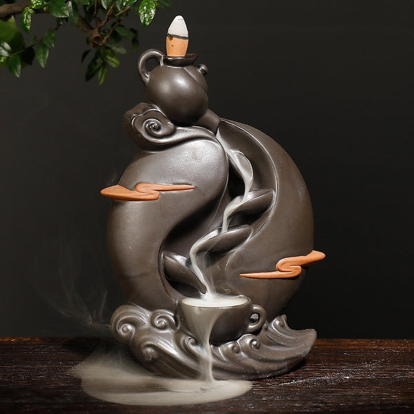 Teapot Waterfall Backflow Incense Burner