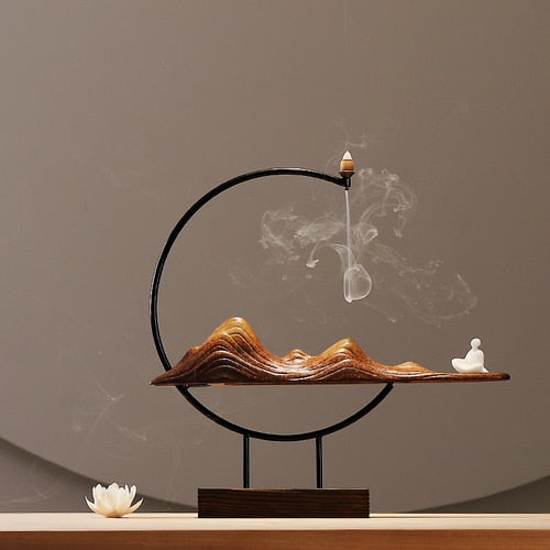 Desert Buddha Backflow Incense Coil Holder
