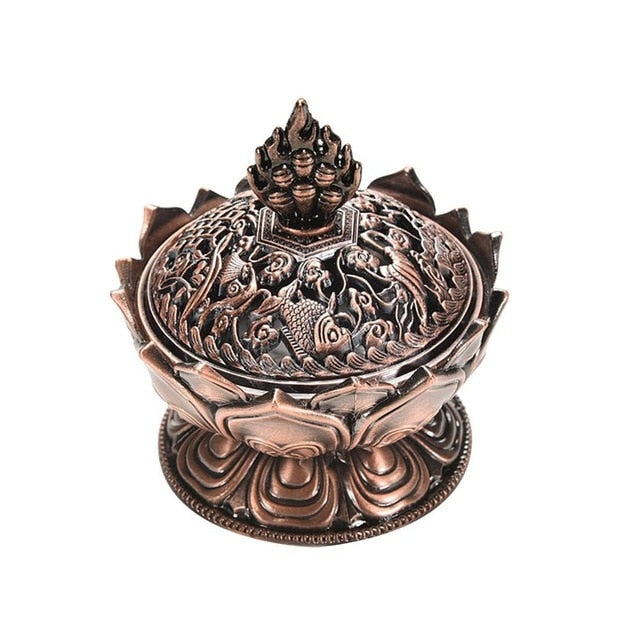 Metalcraft Lotus Backflow Incense Burner