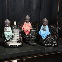 Load image into Gallery viewer, Ceramic Backflow Incense Burner Small Buddha