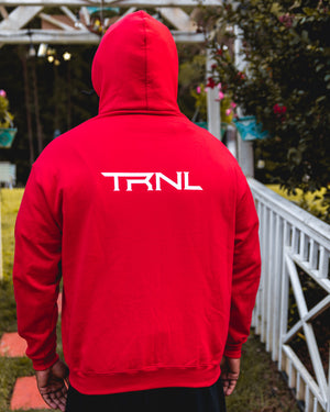 Zip-Up Hoodie Red/White