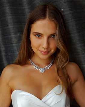 wedding necklaces and chokers - by Kezani Jewellery Perth and Australia
