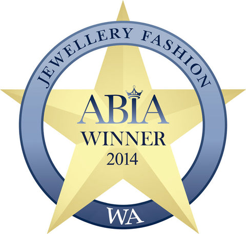 This is an Award from Australian Bridal Industry Acadamy to Kezani Jewellery as the winner of 2014 for Bridal Fashion Jewellery