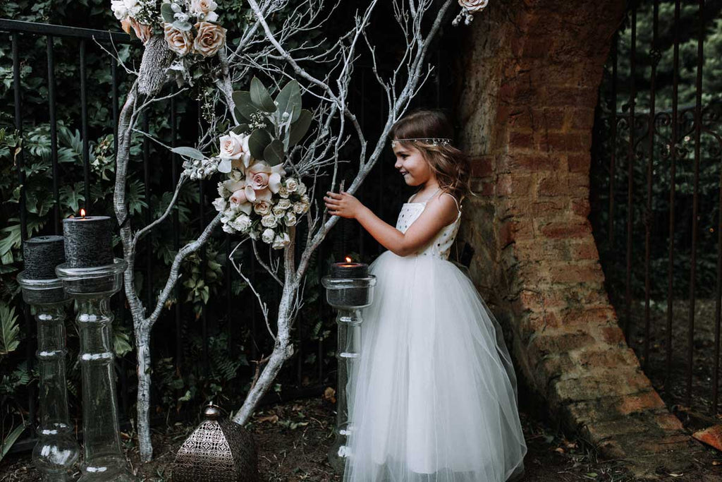 Tulle flowergirl dress by Samantha Wynne