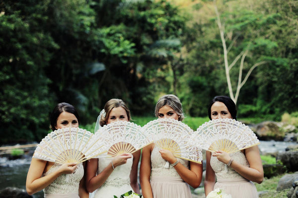 Kezani Real Wedding - Renee and her bridesmaids