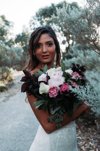 The adorable Hannah with bouquet from Floral favourites perth