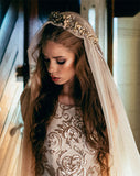 SALE - Bridal headpieces - Fiorentina MATT SILVER by Stephanie Browne