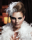 SALE - crystal leaf headpiece with ostrich feathers - L'Amour by Kezani - Kezani Jewellery - 3