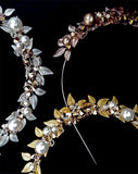 Bridal headpiece - race day Crown - Rose Gold Leaf crown - 'Amara' by Kezani