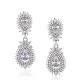 NEW ARRIVAL - CELESTE HALO PEAR CRYSTAL DROP RH