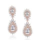NEW ARRIVAL - CELESTE HALO PEAR CRYSTAL DROP ROSE GOLD