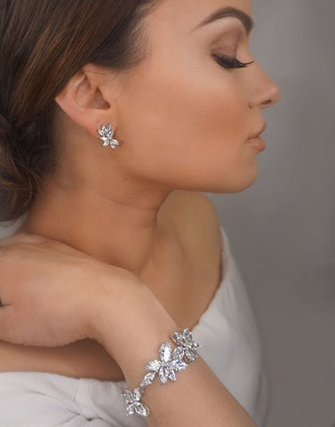 Bridal bracelet - Allure crystal marquee by Stephanie Browne