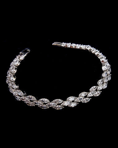 Bridal bracelet- Bocheron crystal bracelet by Stephanie Browne - Kezani Jewellery - 1