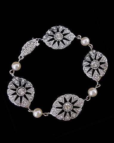 Bridal bracelet - Charleston pearl by Stephanie Browne - Kezani Jewellery - 1