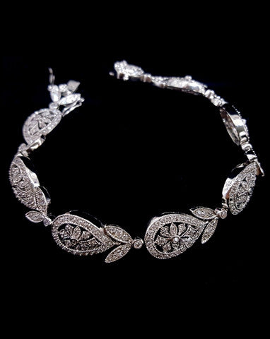 Bridal bracelet - Diademe antique finish by Stephanie Browne