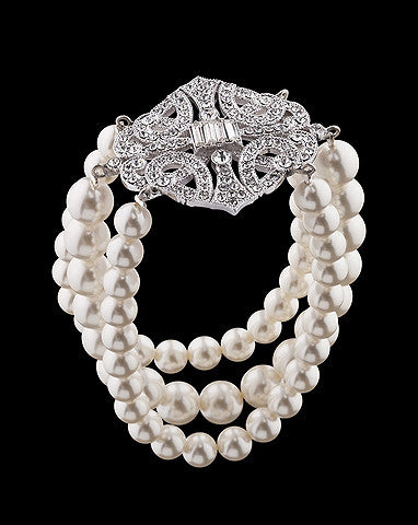 Bridal bracelet - Paris pearl by Stephanie Browne - Kezani Jewellery