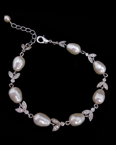 Bridal bracelet - Silk pearl by Stephanie Browne - Kezani Jewellery - 1