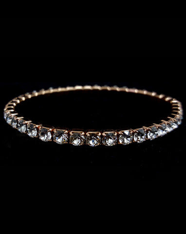 Bridal bracelet- tennis stretch crystal bracelet by Swarovski - KEZANI JEWELLERY - designer bridal jewellery and wedding accessories - 1