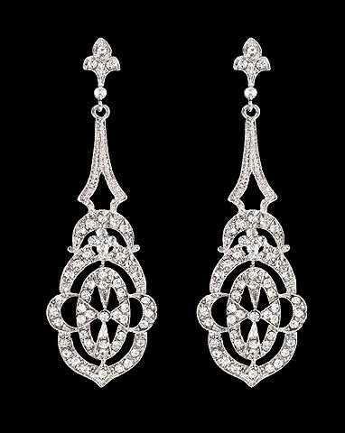 Bridal earrings - Paris earrings by Stephanie Browne - Kezani Jewellery