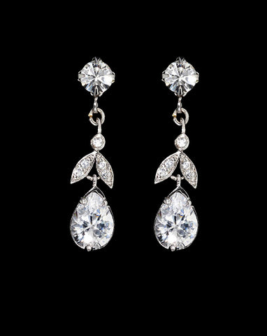 Bridal earring - Silk crystal earring by Stephanie Browne - Kezani Jewellery