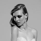 Bridal earrings - Allure by Stephanie Browne - On model 2