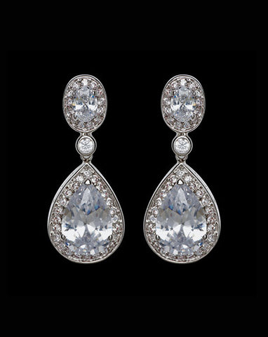 Bridal earrings - Bond St by Stephanie Browne - Kezani Jewellery - 1