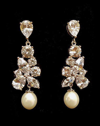 Bridal earrings -Regalia Madame by Stephanie Browne - Kezani Jewellery - 1