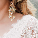 Bridal earrings - gypsy boho style - Samsara deluxe by Kezani - Kezani Jewellery - 2