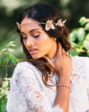 Bridal headpiece - rose gold flower boho crown - Alessa by Kezani - KEZANI JEWELLERY - designer bridal jewellery and wedding accessories