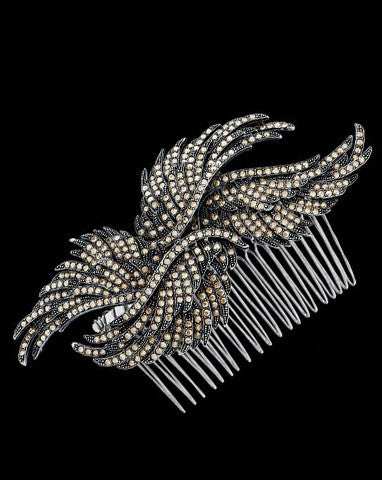 Bridal headpieces - Birds of a feather II by Stephanie Browne - Kezani Jewellery