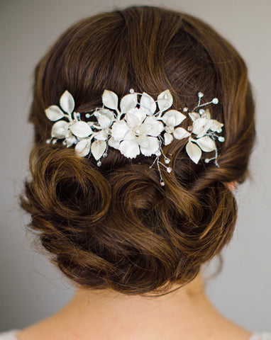 Bridal headpieces - Fiorentina comb by Stephanie Browne
