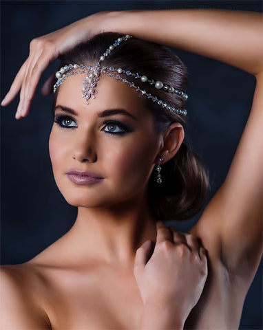 Bridal headpiece - Indian inspired head jewellery - Danielle by Kezani - Kezani Jewellery - 1