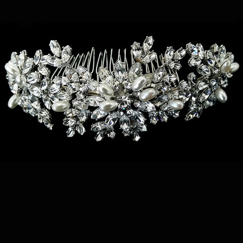 Bridal headpieces - Jasmine pearl band by Stephanie Browne - Kezani Jewellery