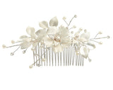 bridal headpiece - Missy Fi comb by Stephanie browne - available at Kezani Jewellery - matt silver