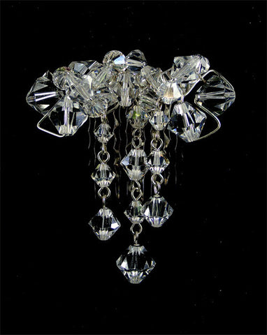Bridal headpiece - crystal cluster side comb - Angelina by Kezani - Kezani Jewellery - 1