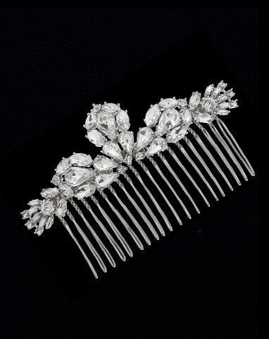 bridal headpiece- viva crystal comb - by Stephanie Browne