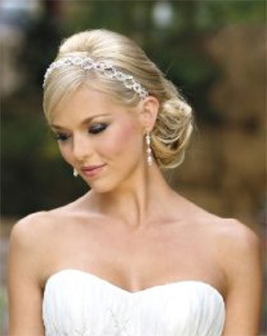 Bridal headpiece - Headpiece Crystal Headband - Tara by Kezani