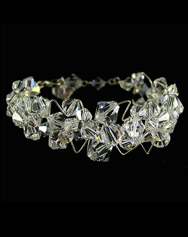 sale wedding bracele angelique crystal cluster- by Kezani