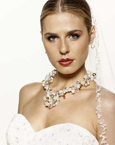 Wedding necklaces - twisted pearl classic - Kennedy by Kezani - Kezani Jewellery - 1