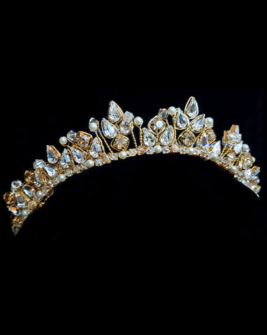 Wedding crown - dainty crystal - Bella Crown by Kezani