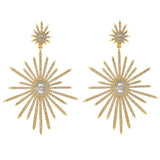 bridal earrings - statement starlight earrings - Venus in gold plate by Stephanie Browne at Kezani