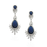 NEW ARRIVAL - classic sapphire statement earring - Jubilee - Exclusive at Kezani