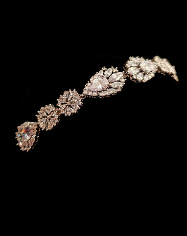 NEW ARRIVAL - wedding and bridal headpiece - art deco crystal headband - Jonina by Johnny B Collection at Kezani