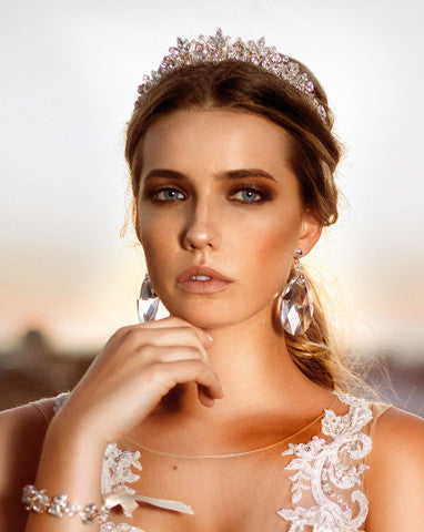 wedding crown - small crystal dainty - Bella by Kezani jewellery