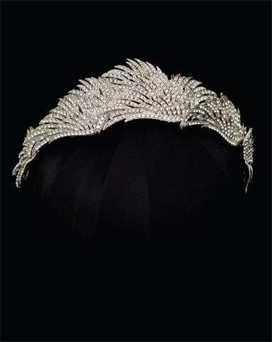 wedding crown - Birds of feather diademe by Stephanie Browne