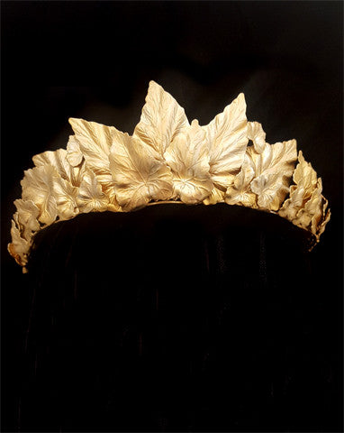 wedding crown - Gloria diademe - gold leaf crown by Stephanie Browne