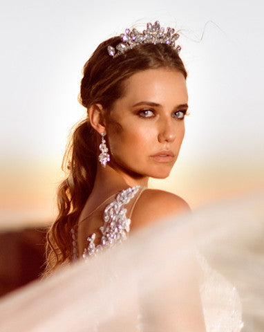 wedding crown - makara crystal by Kezani Jewellery