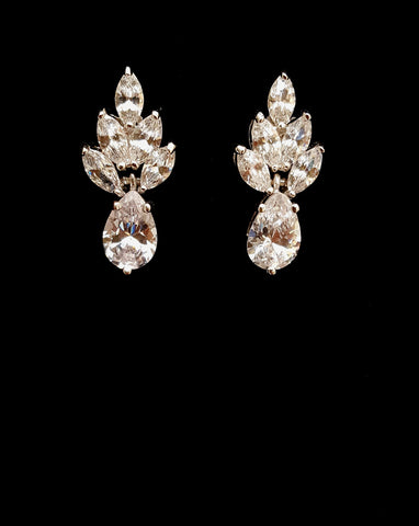 Bridal earrings - Queenie by Stephanie Browne